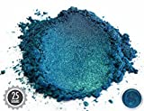 Eye Candy Pearls 25gr Macaw Green Blue Mica Powder Pigments (Resin, Paint, Epoxy, Soaps, Nail Polish, Liquid Wraps)