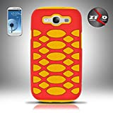 Cell Accessories For Less (TM) For Samsung Galaxy S3 i9300 - ZIZO Premium HEX Cover - Red/Yellow HEX + Bundle (Stylus & Micro Cleaning Cloth) - By TheTargetBuys