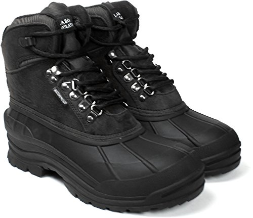 Boots for Style Leather Black103 Waterproof LB Snow 6 LABO qnH6AFff