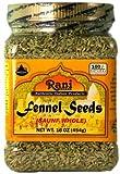 Rani Fennel Seeds 16Oz by Rani