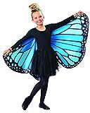 Seasons Kids Monarch Butterfly Cape Wings, Blue, One Size