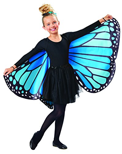 Seasons Kids Monarch Butterfly Cape Wings, Blue,
