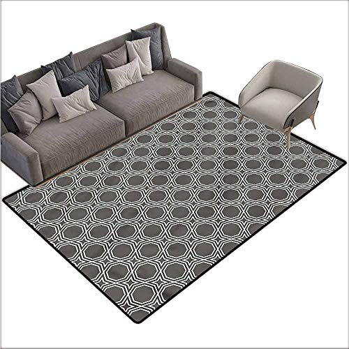 Corridor Rug Colorful Geometric,Octagons and Stars 64