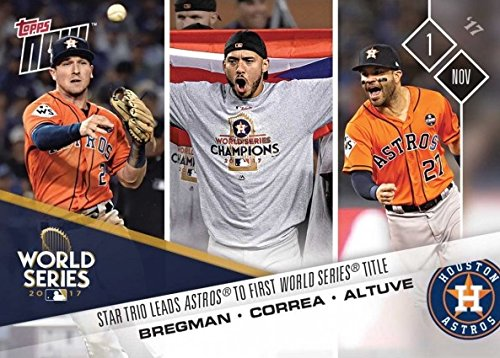 2017 Topps Now #861 Alex Bregman Carlos Correa Jose Altuve Baseball Card - Star Trio Leads Houston Astros to 1st World Series Championship - Only 2,220 made!