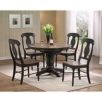 Amazon.com - Iconic Furniture Round Dining Table, Grey Stone ...