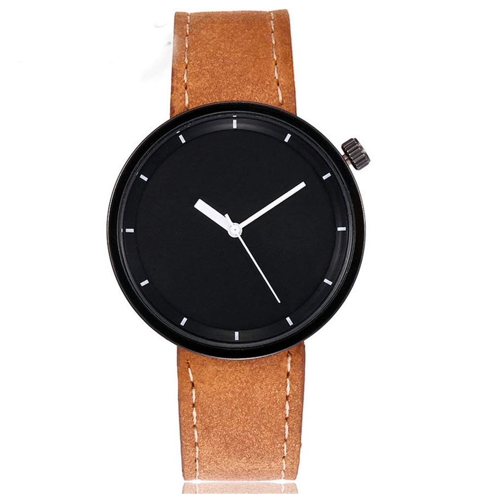 Zaidern Womens Leather Watches Unique Analog Quartz Wrist Watches Clearance Lady Watches Female Watches on Sale Casual Wrist Watches for Women Round Dial Case Comfortable Watch