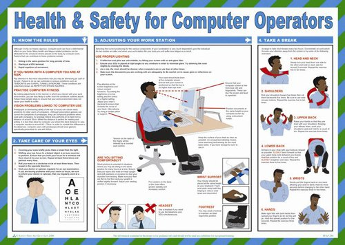 First Aid Poster Health And Safety For Computer Operators