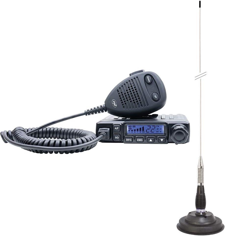 Radio CB PNI Escort HP 6500 ASQ con Antena CB PNI ML100 ...