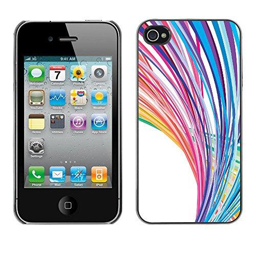 Rainbow Line Vector Art Pattern Parallax - For Apple iPhone 4 / 4S
