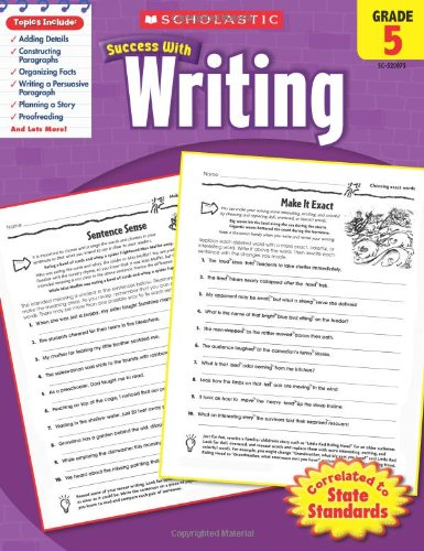 Scholastic Success with Writing, Grade 5 40 Page Activity Book