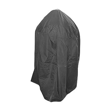 WINOMO Funda para barbacoa impermeable redonda parrilla cubierta con bolsa de almacenamiento (negro): Amazon.es: Jardín