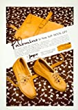 1941 Ad Vintage Joyce Hook-Up Shoe Women Palomino Leather Purse Belt 40s Fashion - Original Print Ad