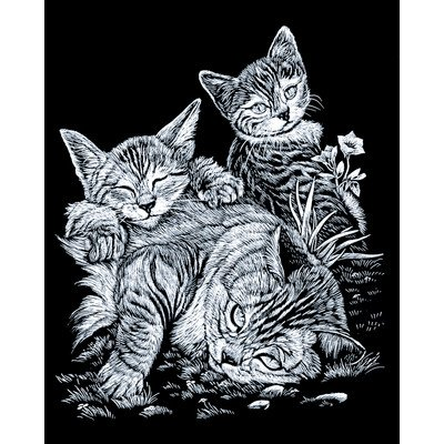 Royal & Langnickel Bulk Buy Royal Brush Silver Foil Engraving Art Kit 8 inch x 10 inch Cat & Kittens SILF-13 (3-Pack)