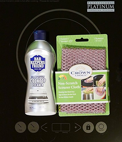 BAR KEEPERS FRIEND Cooktop Cleaner Kit. Liquid 13 OZ and ...