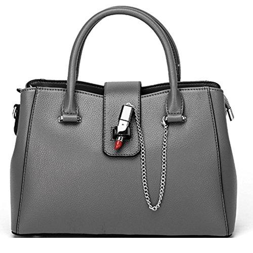 女性のバッグのハンドバッグヨーロッパとアメリカのファッションレディース新しい手のショルダーバッグレザーバッグZYXCC