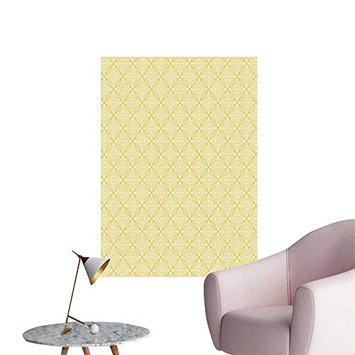 Scroll Diner (Wall Decals Fashi Baroque Scrolls in Damask Motif Baby Pink Light Blue Yellow Environmental Protection Vinyl,16