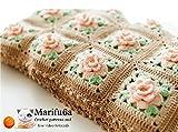 crochet blanket afghan with roses