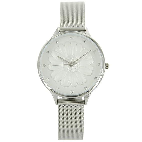 Reloj Mujer Milanais Relieve Abeja Brillantes Michael John 729: Amazon.es: Relojes
