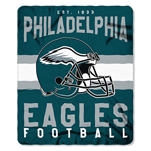 The Northwest Company NFL Philadelphia Eagles Singular Fleece Throw, 50-inch by 60-inch, Green