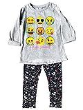Emoji Pants for Kids emoji Girls Hi Lo Sweatshirt with Print Legging Set Gray Size 4