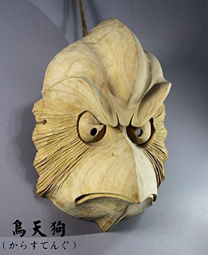 QH011 Hand Carved KARASUTENGU Mask Japanese NOH Kyougen Kagura Bugaku GAGAKU GIGAKU