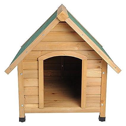 Caseta machimbre Madera Maciza Perros impermeable Perros Casa cabaña 76 x 76 x 72 ht2022