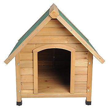 Caseta machimbre Madera Maciza Perros impermeable Perros Casa cabaña 76 x 76 x 72 ht2022: Amazon.es: Productos para mascotas