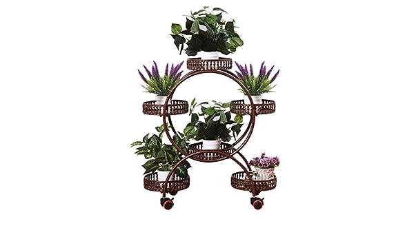 ZRHJ Soportes para Plantas para jardín, Metal macetas estanteria ...