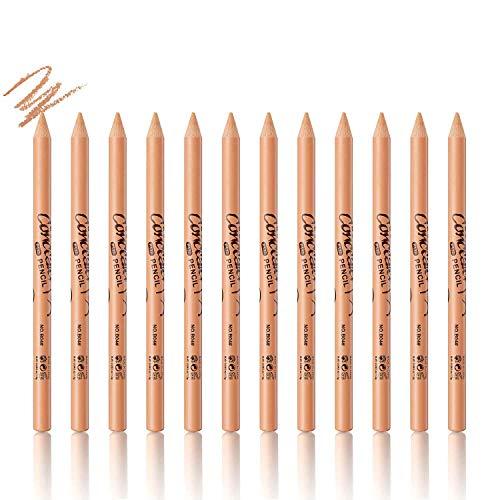 Sumeitang 12 Packs Wonder Concealer Pencil Highlighter Concealer Stick Makeup Set Waterproof Full Coverage Foundation…