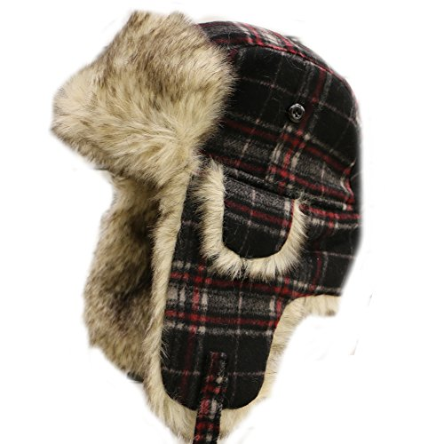 City Hunter W300 Premium Wool Trapper Hats - W680 Black