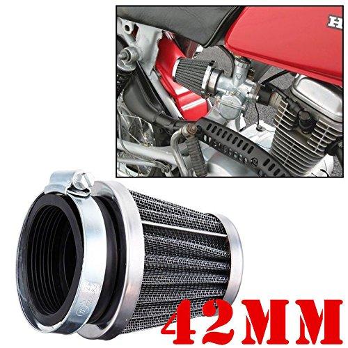FidgetKute air Filter 42mm Performance for GY6 150-250CC Go Kart Pit Dirt Bike Motorcycle s (Bike Filter Air Dirt 250 Cc)