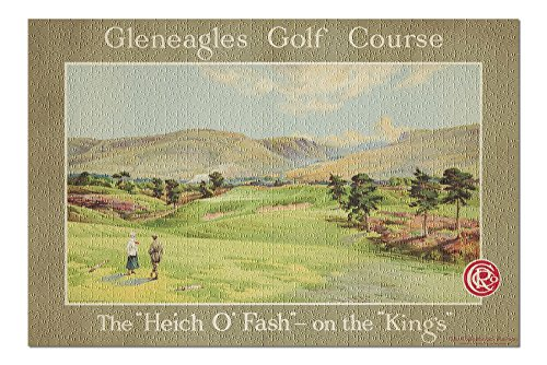 Gleneagles Golf Course Vintage Poster (artist: Anonymous) UK c. 1928 (20x30 Premium 1000 Piece Jigsaw Puzzle, Made in USA!)