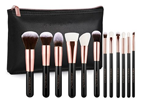 Professional Luxury Rose Gold 12pc Soft Makeup Brush Set - Vintage Rose