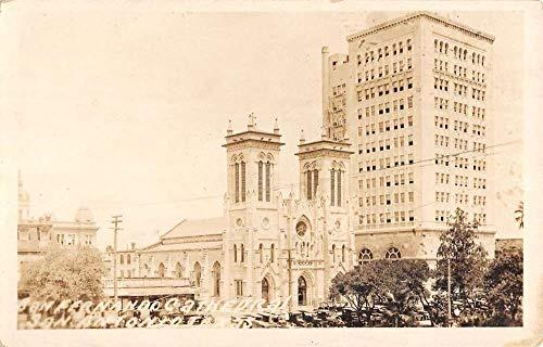 San Antonio Texas San Fernando Cathedral Real Photo Antique Postcard K104500 (Cathedral De San Fernando San Antonio Texas)