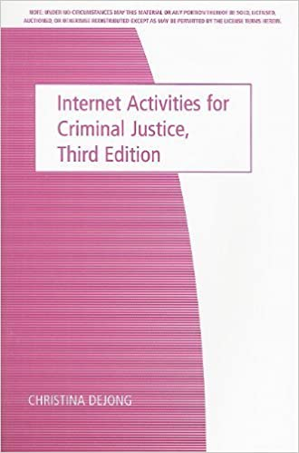 Internet Activities for Criminal Justice by Wadsworth (2007-07-23)