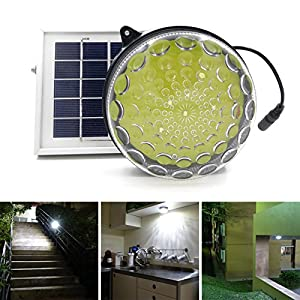 51kM0diGx7L. SS300  - ROXY-G2 Solar Outdoor/ Indoor Lighting Kit with Lithium Battery, Photo Sensor for Auto On/ Off, 3-Level Brightness Control, 15ft Cable, for Garage / Workshop / Cabin / Yard / Shed Light