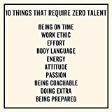 Meishe Art Motivational Poster Print Inspirational Quotes Phrase Sign 10 Things That Require