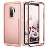 Galaxy S9+ Plus Case, YOUMAKER Rose Gold Full Body...
