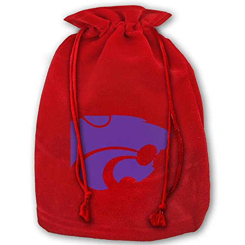Kansas State Wildcats Santa Sack Large Gift Bags Christmas Bag Portable Funny Decorative Baskets For Christmas Party Gift Wrapping - Kansas State Wildcats Santa