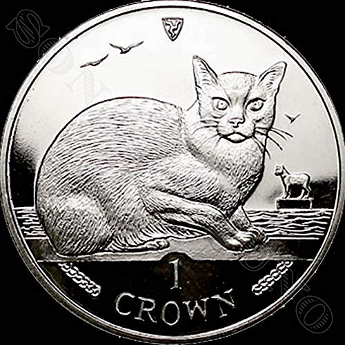1996 BURMESE CAT - Uncirculated Cupro Nickel 1 Crown Coin - Isle of Man