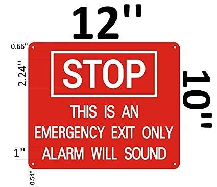 Amazon.com: Stop esta es una salida de emergencia sólo ...