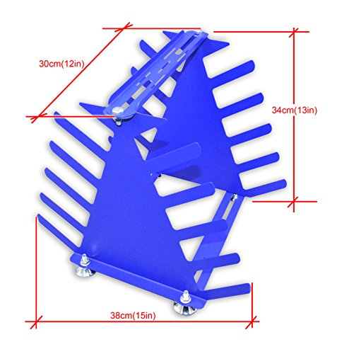 Desktop Screen Printing Squeegee Rack Silk Screen Squeegee Scraper Spatula Steel Holder Organizer by Screen Printing Equipment