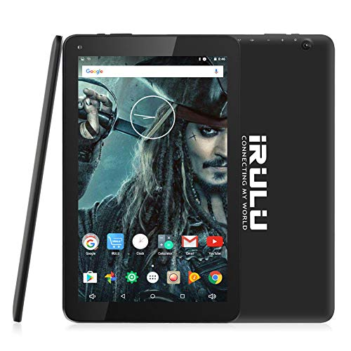 10.1 inch Tablet, iRULU Quad Core CPU Android 7.0 Tablet, Bluetooth, GPS, 16GB Storage, 1280x 800 IPS Display Google Tablet with Mini HDMI - Black