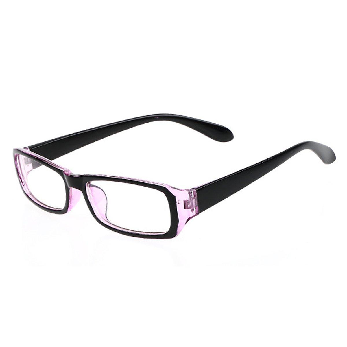 LA HAUTE Women Plain glasses Fashion Computer Gaming Glasses Rectangle Clear Lens Anti-Uv Eyewear