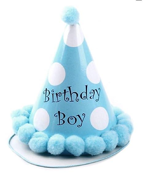 Sombrero - cono - punta - cumpleaños - para niño ...