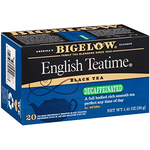 Bigelow Decaffeinated English Teatime Tea 20-Count Boxes (Pack of 6), 120 Tea Bags Total. Caffeinated Individual Black Tea Bags, for Hot Tea or Iced Tea, Drink Plain or Sweetened with ()