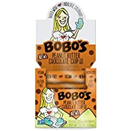 Bobo's Oat Bars, Peanut Butter Chocolate Chip, 3 oz Bar (12 Pack), Gluten Free Whole Grain Snack and Breakfast Bar