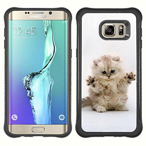 STPlus Gato en una caja Animal Carcasa Funda de Caucho Blando A Prueba de Choques Para Samsung Galaxy S6 Edge Plus #24