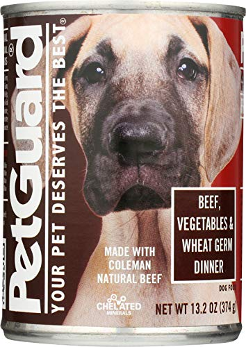 PetGuard Dog Food, Beef Vegetables & Wheat Germ Dinner, 13.2-Ounce (Pack of 12)
