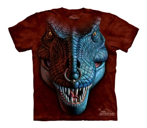Mountain T-Rex Face Youth Size T-shirt , Chestnut , Small